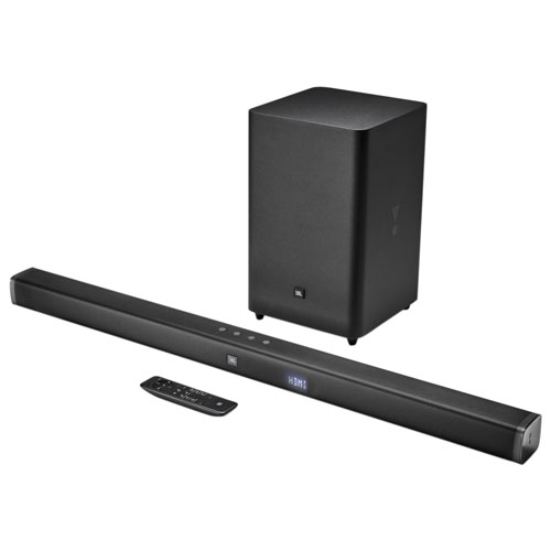 300-Watt 2.1 Channel Sound Bar with Wireless Subwoofer JBLBAR21BLK