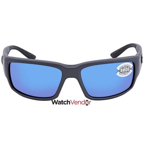 57d5043e3e4f Overview. Costa Del Mar Fantail Blue Mirror Glass Wrap Sunglasses TF 98  OBMGLP