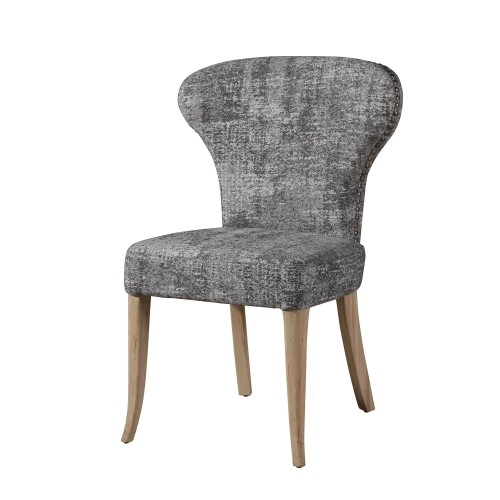Magnificent Capri Wing Back Dining Chair Birchwood Legs Natural Finish Upholstered Polyester Viscose Polyamic 24 21 36 Pabps2019 Chair Design Images Pabps2019Com