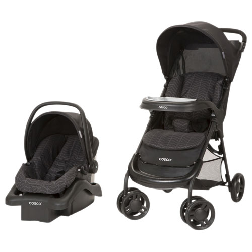 Cosco Lift Stroll Plus Standard Stroller With Light N Comfy Infant Car Seat
