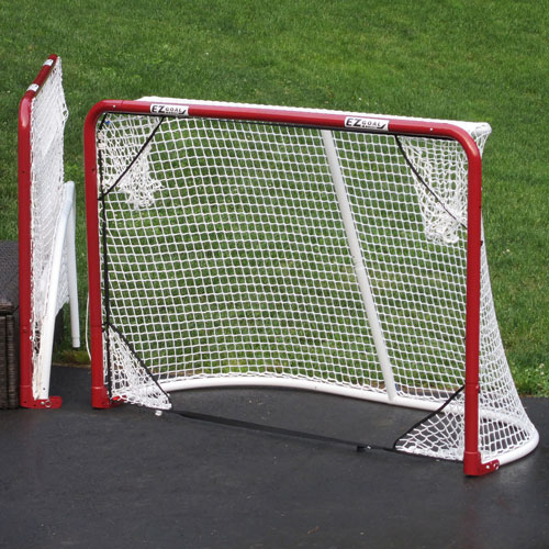 Monster EZGoal Hockey Goal with Targets - Red