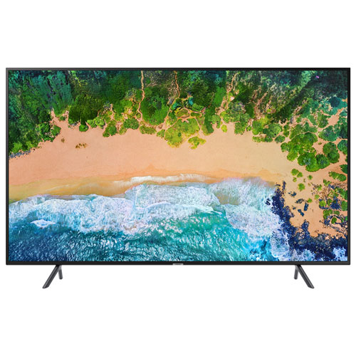 "Samsung 58"" 4K UHD HDR LED Tizen Smart TV (UN58NU7100FXZC) - Charcoal Black"