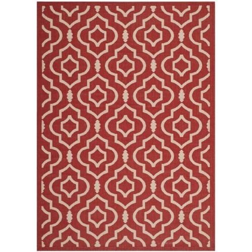 Safavieh Courtyard Red Indoor Outdoor Rug 4 X 5 7 Tapis Best