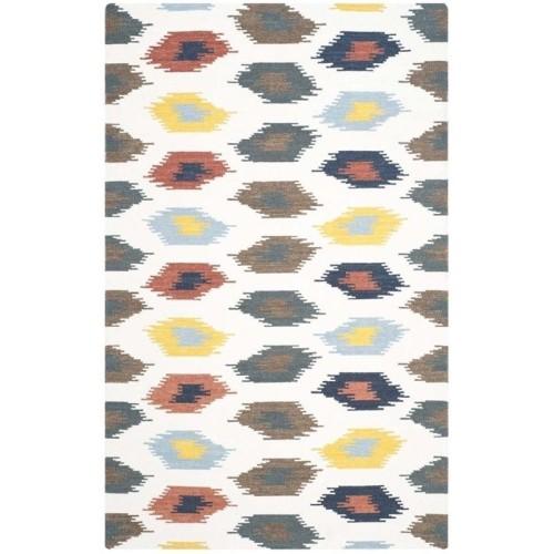 Safavieh Dhurries Ivory Contemporary Rug 5 X 8 Tapis Best
