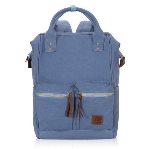 aa47fc84cb59 Veegul Doctor Style Canvas School Backpack Fits 15.6inch Laptop Functional  Travel Bag for Men Women Semizipper Pocket   Backpacks - Best Buy Canada