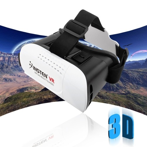 Insten [Adjustable] 3D Glasses Virtual Reality Headset VR BOX Google Cardboard fit Samsung S7 Edge, iPhone SE/ 6/6s Plus, Smar