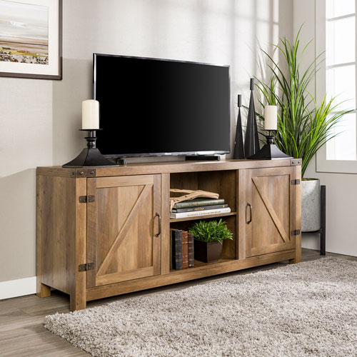 """Winmoor Home Rustic Country 60"""" TV Stand - Rustic Oak"""