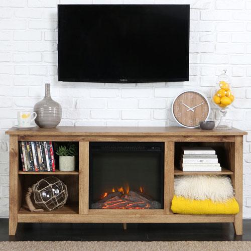 "Winmoor Home Traditional 60"" Fireplace TV Stand - Barnwood"