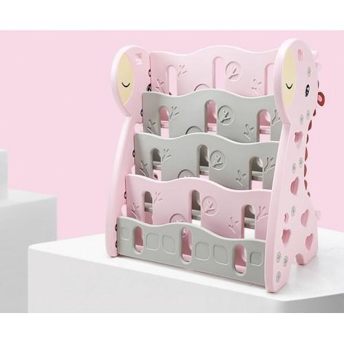 Lightweight Children Cartoon Magic Pink Giraffe Themed Bookshelf Other Kids Room Furniture