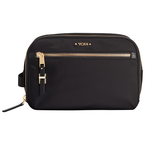 bd50a7968edf TUMI Voyageur Erie Nylon Double Zip Cosmetic Bag - Black (110004-1041)    Wristlets - Best Buy Canada