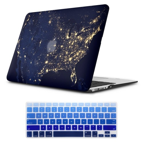 sale retailer bf758 6cdf4 MacBook Air 13 inch Case,iCasso Rubber Coated Glossy Hard Shell Plastic  Protective Case Cover for Apple Laptop MacBook Air 13   Best Buy Canada
