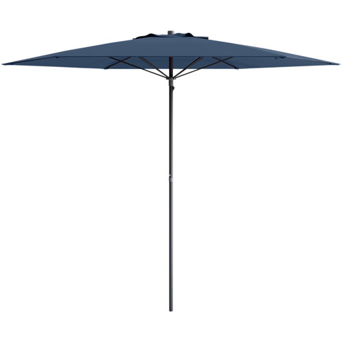 Corliving Collapsible 7 Ft Circular Beach Patio Umbrella Navy