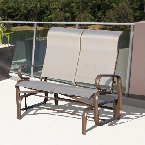 Outsunny Double Seat Garden Glider Bench Patio Chairs Seating