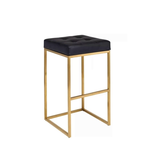 Amazing Pipe Counter Stool In Black By Walnut Decor Andrewgaddart Wooden Chair Designs For Living Room Andrewgaddartcom