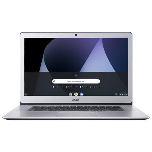Acer 15 6 Touchscreen Chromebook Silver Pqc N4200 32gb Emmc 4gb