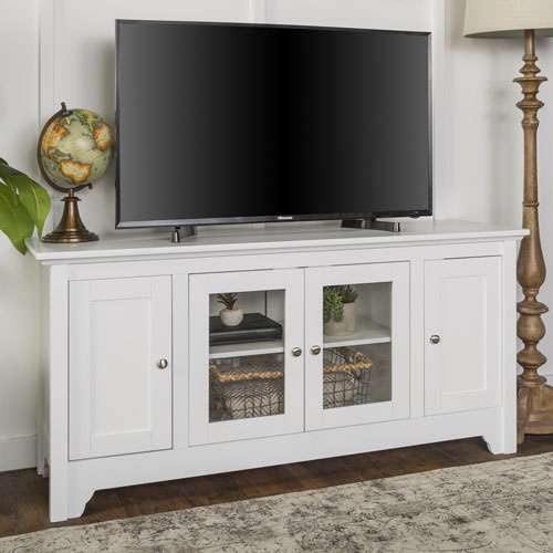 Winmoor Home Traditional 55 Tv Stand White Tv Stands Best Buy