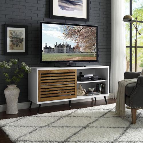 "Winmoor Home Modern 55"" TV Stand - White Oak"