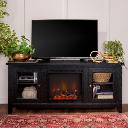 Meuble-foyer transitionnel de Winmoor Home pour téléviseur de 60 po - Noir
