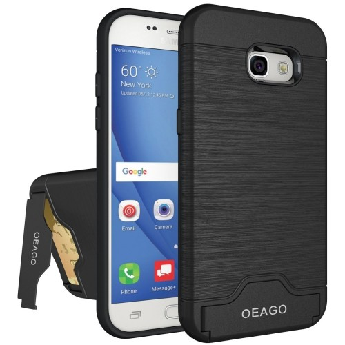 new concept 67e07 5dca9 Galaxy A5 2017 Case, Samsung Galaxy A5 2017 Case OEAGO [Card Slot] [Brushed  Texture] Heavy Duty Hybrid Dual Layer Wallet Case