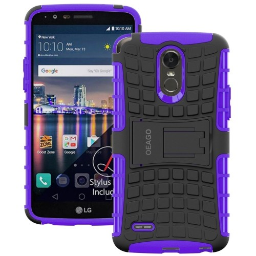 huge discount b05b3 56e56 LG Stylo 3 Plus Case, OEAGO [Shockproof] [Impact Protection] Tough Rugged  Dual Layer Protective Case with Kickstand for LG Sty