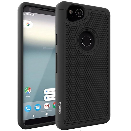timeless design 85f16 ffe4f Google Pixel 2 Case, OEAGO Google Pixel 2 Case [Shockproof] [Impact  Protection] Hybrid Dual Layer Defender Protective Case Cov