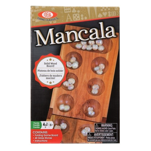 Ideal Classic Mancala Board Game Learning Educational Toys