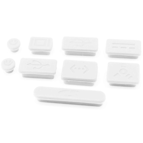 LENTION Silicone Rubber Anti-Dust Port Plugs for MacBook Pro (13-inch /  15-inch, Late 2008 to Mid 2012) - Model A1278 / A1286,