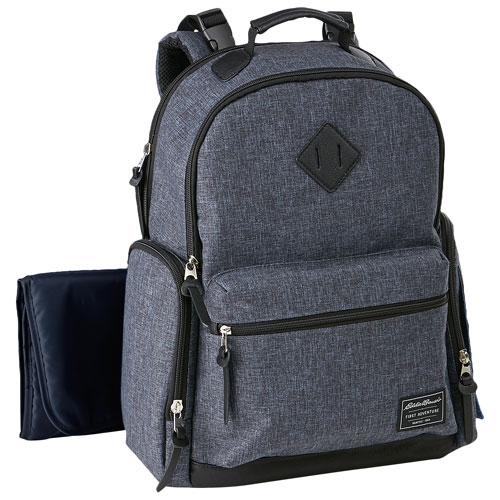 9af04ab5b6e9 Eddie Bauer Bridgeport Backpack Diaper Bag - Grey Denim   Diaper Bags -  Best Buy Canada