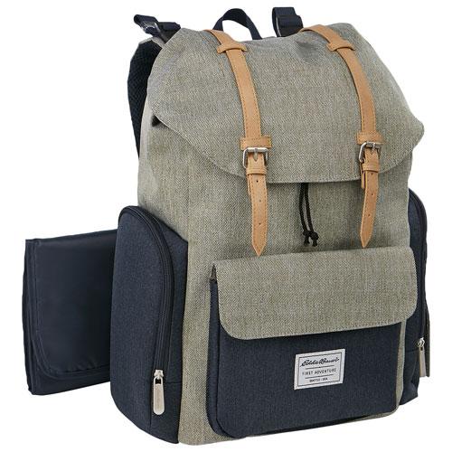 268faf07f981 Eddie Bauer Places   Spaces Legend Backpack Diaper Bag - Grey Navy - Online  Only