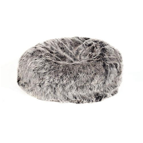 a9ed8a0ddb Faux Fur Bean Bag Gray Acrylic Polyester Polyester  Filled(33.5 33.5 12)1 Box   Poufs - Best Buy Canada