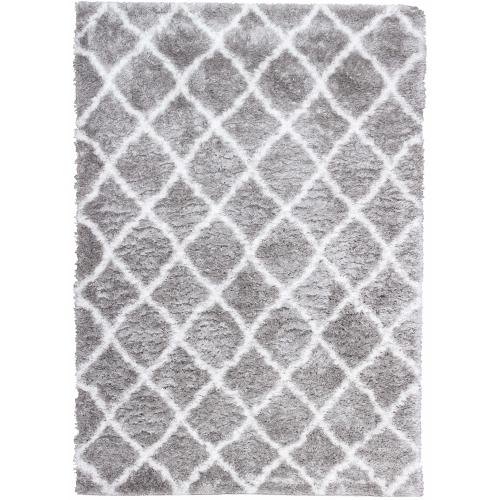 Kerrisdale Grey Lattice Shag Area Rug 6 7 X9 6 Rugs Carpets