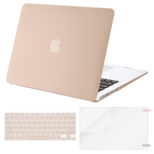 new product 083ce 65ca5 Mosiso Plastic Hard Case with Keyboard Cover with Screen Protector for  MacBook Air 13 inch (Model: A1369 and A1466), Camel