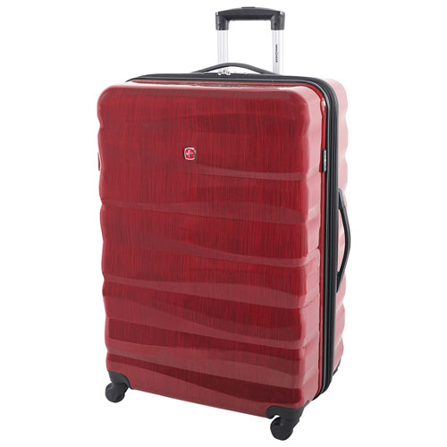 """SWISSGEAR Powder King 28"""" Hard Side Expandable Luggage - Red - Only at Best Buy"""