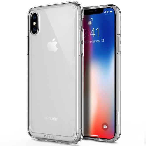 finest selection a22eb 6ab5d iPhone X Case, iPhone 10 Case, OBLIQ [Naked Shield] Crystal Clear Case With  TPU Shock Resistant Bumper for Apple iPhone X (201