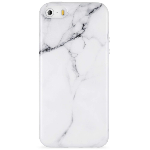 meet fe452 283ae Marble iPhone 5 Case White,iPhone 5s Case,iPhone SE Case, VIVIBIN Shock  Absorption IMD Soft TPU Gel Case for iPhone 5/5s/SE-Wh - Online Only
