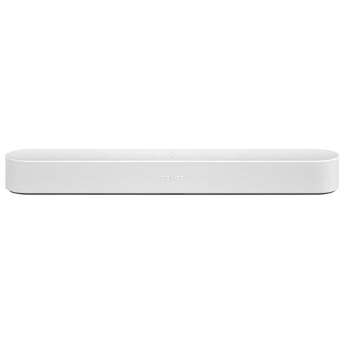 Sonos Beam Barre de son intelligente pour téléviseur avec Alexa d'Amazon/Assistant Google - Blanc