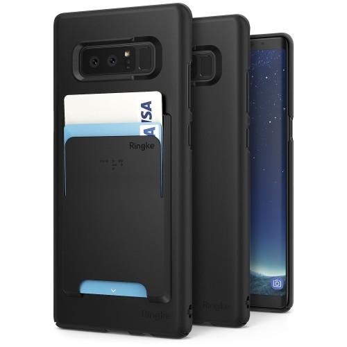 best service 5afb6 ad92e Samsung Galaxy Note 8 Phone Case [Value Accessory Kit] Ringke SLIM Superior  Slender [Wallet Slot Attachment] Precise Contour L