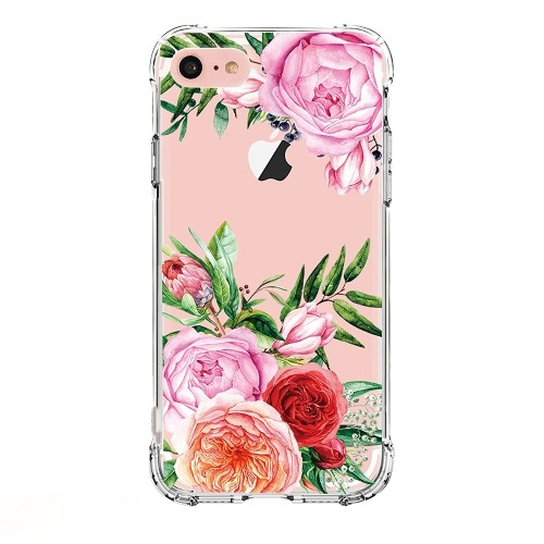 sports shoes fd520 88a60 iPhone 5 case,iPhone 5s Se Case with flowers, LUOLNH Slim Shockproof Clear  Floral Pattern Soft Flexible TPU Back Cover -China