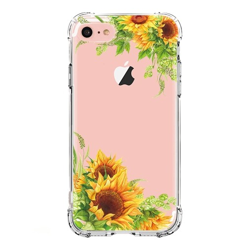 best loved ff3fc ec2ee iPhone 8 Case,iPhone 7 Case with Flowers,LUOLNH Dahlia Series TPU Bumper  Soft Protective Slim Flexible Silicone Glossy Skin Co