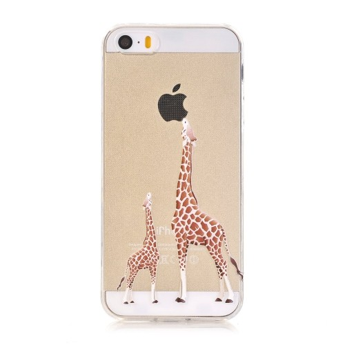 buy popular 3c723 3670f iPhone SE Case,iPhone 5/5S Case, LUOLNH [New Creative Design] Flexible Soft  TPU Silicone Gel Soft Clear Phone Case Cover for i