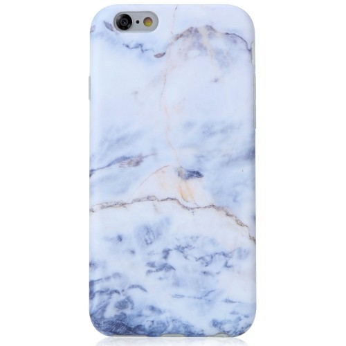 new styles 338ce a4eab Marble iPhone 6 Plus Case Light Blue, iPhone 6S Plus Case,VIVIBIN Shock  Absorption IMD Soft TPU Gel Protective Cover Case for