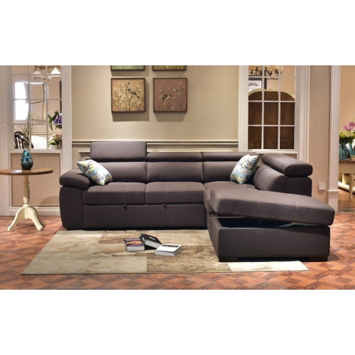 Valencia Alesund Sectional Sofa Bed With Chaise And Ottoman Rhino