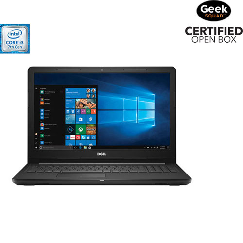 "Dell Inspiron 15.6"" Laptop - Black (Intel Core i3-7130U/1TB HDD/8GB RAM/Windows 10) - Open Box"