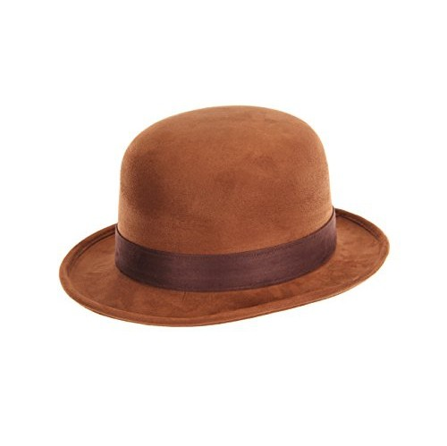 46b0844e4 Elope Derby Bowler Hat, Brown, One Size