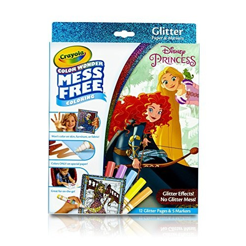 Crayola Color Wonder Glitter Pad Markers Princess Toy Colouring