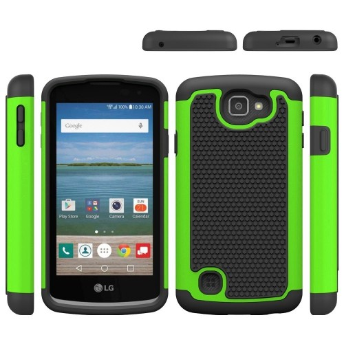 LG Spree Case, LG Optimus Zone 3 Case,LG K4 Case,LUOLNH [2 in 1] Shock  Absorbing Hybrid Best Impact Defender Rugged Slim Cover