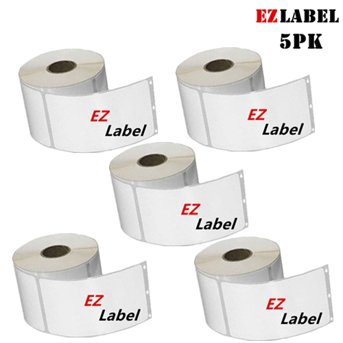 5 Rolls EZlabel DYMO 30323 Compatible LabelWriter Shipping Labels, 2-1/8