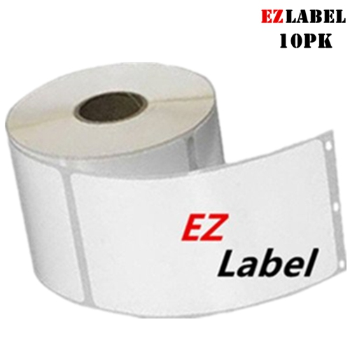 """10 Rolls EZlabel Dymo 30258 LabelWriter Self-Adhesive Multipurpose Labels, 2-1/8"""" x 2-3/4"""", Roll of 400"""