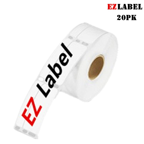 20 Rolls Ezlabel DYMO 30330 LabelWriter Self-Adhesive Return Address Labels, 3/4- by 2-inch, White, 500 labels/roll