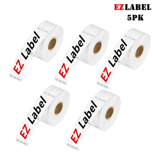 """5 Rolls EZlabel DYMO 30321 Compatible Address Labels, White, 1-4/10"""" X 3-1/2"""", 260 Labels/Roll."""